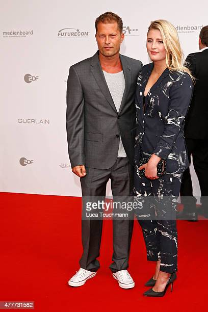 Til Schweiger and his daughter Luna arrive for the German Film Award 2015 Lola at Messe Berlin on June 19 2015 in Berlin Germany
