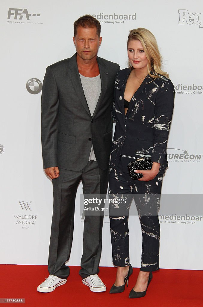 Til Schweiger and Luna Schweiger arrive to the German Film Award 2015 Lola (Deutscher Filmpreis) at Messe Berlin on June 19, 2015 in Berlin, Germany.