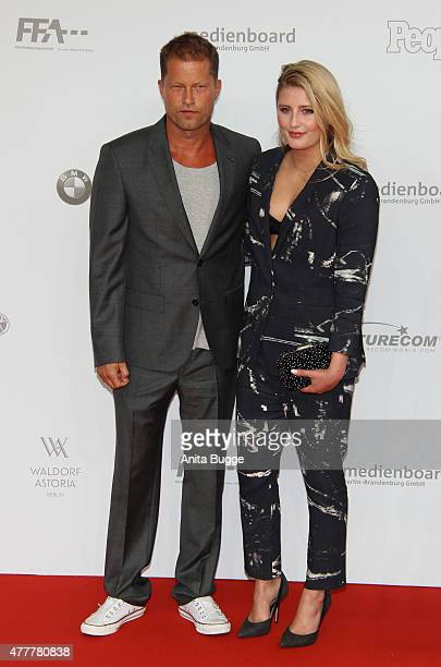 Til Schweiger and Luna Schweiger arrive to the German Film Award 2015 Lola at Messe Berlin on June 19 2015 in Berlin Germany