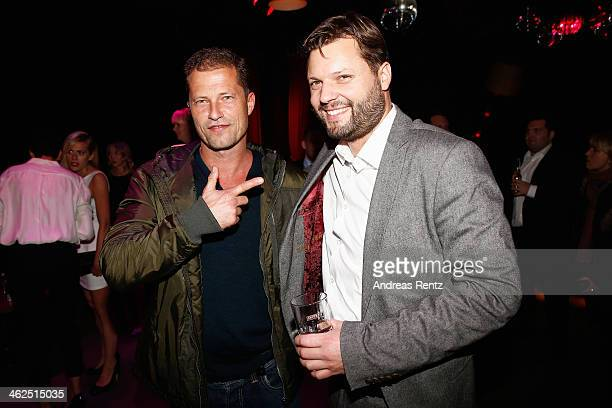 Til Schweiger and Peter Thorwarth attend the after show party of the film 'Nicht mein Tag' at Ritter Butzke on January 13 2014 in Berlin Germany