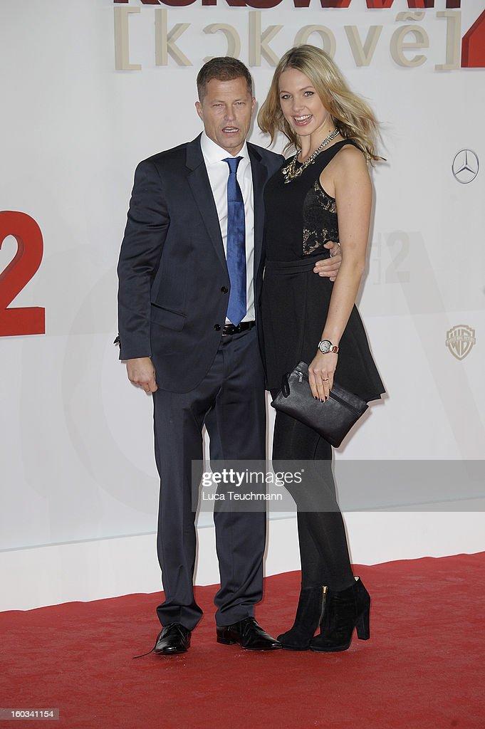 Til Schweiger and Svenja Holtmann attends 'Kokowaeaeh 2' Germany Premiere at Cinestar Potsdamer Platz on January 29, 2013 in Berlin, Germany.