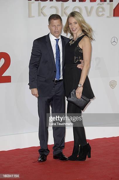 Til Schweiger and Svenja Holtmann attends 'Kokowaeaeh 2' Germany Premiere at Cinestar Potsdamer Platz on January 29 2013 in Berlin Germany