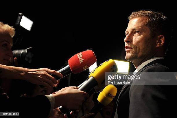 Til Schweiger attends the opening night of the first day of the Charles Voegele Fashion Days on November 9 2011 in Zurich Switzerland