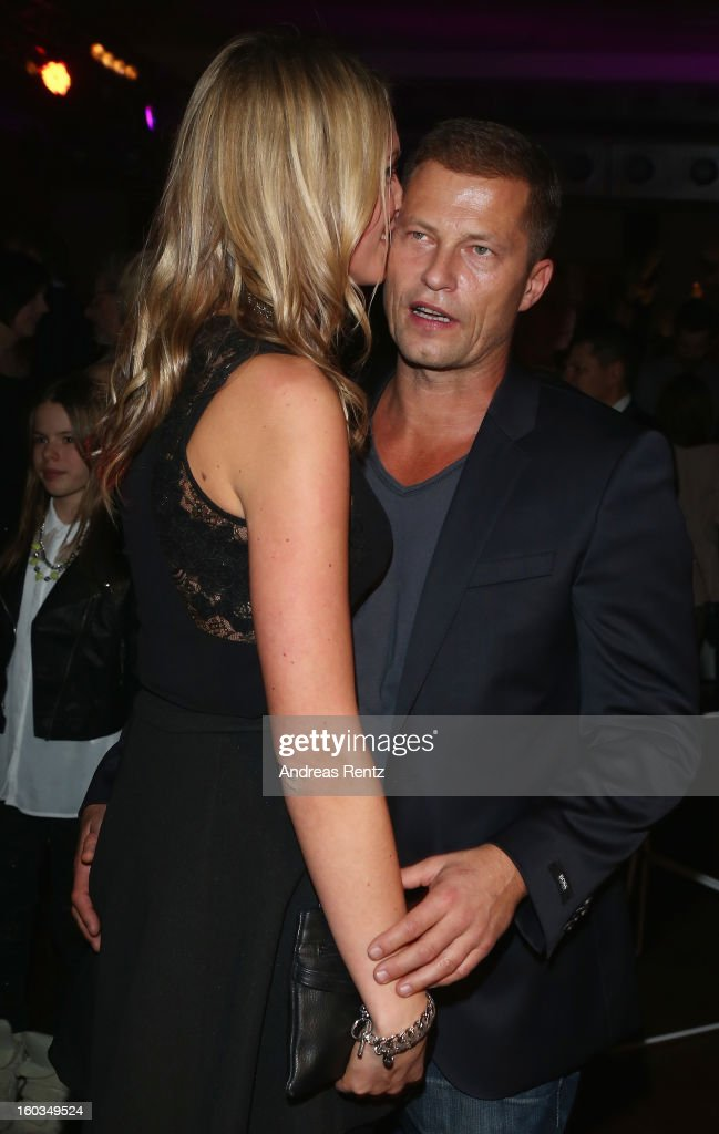 <a gi-track='captionPersonalityLinkClicked' href=/galleries/search?phrase=Til+Schweiger&family=editorial&specificpeople=740750 ng-click='$event.stopPropagation()'>Til Schweiger</a> dances with Svenja Holtmann at the after show party to 'Kokowaeaeh 2' - Germany Premiere at Astra on January 29, 2013 in Berlin, Germany.