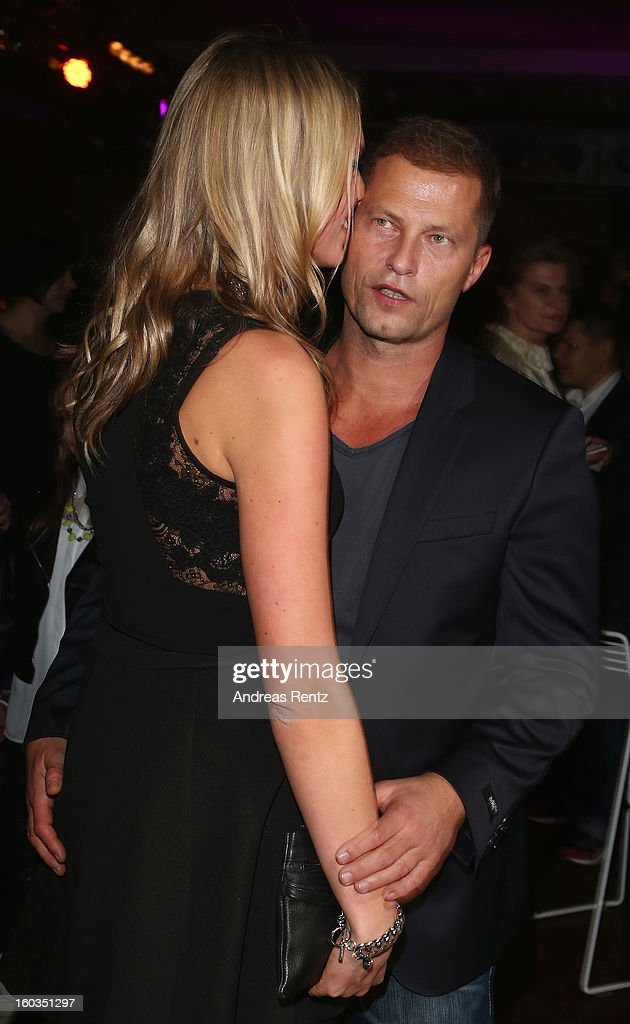 Til Schweiger dances with Svenja Holtmann at the after show party to 'Kokowaeaeh 2' - Germany Premiere at Astra on January 29, 2013 in Berlin, Germany.