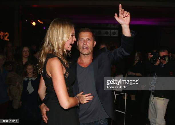 Til Schweiger dances with Svenja Holtmann at the after show party to 'Kokowaeaeh 2' Germany Premiere at Astra on January 29 2013 in Berlin Germany