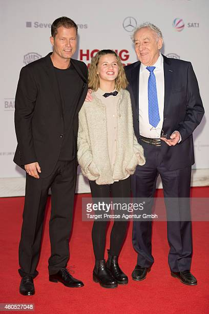 Til Schweiger Emma Schweiger and Dieter Hallervorden attend the 'Honig im Kopf' Premiere at CineStar on December 15 2014 in Berlin Germany