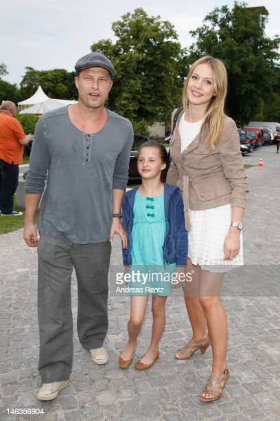 Til Schweiger with his daughter Emma and partner Svenja Holtmann attend the producer party 2012 of the German producers alliance on June 14 2012 in...
