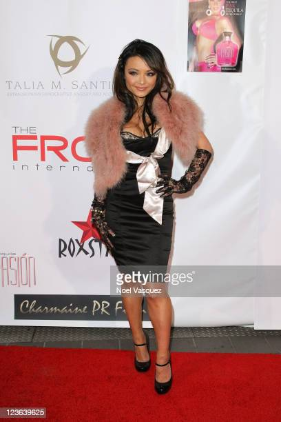 Tila Tequila attends a Tara Reid hosted Golden Globes viewing dinner party at the Jon Lovitz Comedy Club on January 16 2011 in Universal City...