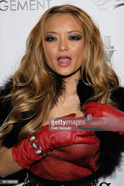 Tila Tequila attends the Famous Stars and Straps 10th Anniversary and Snoop Dogg's 10th album release 'Malice N Wonderland' party at Vanguard on...