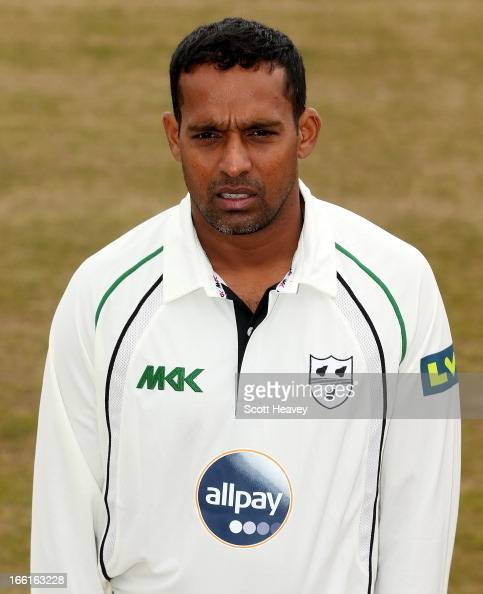 Tilan Samaraweera during a Photocall for Worcestershire County Cricket Club on April 9 2013 in Worcester England