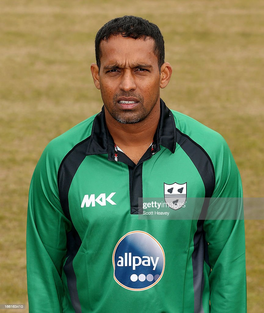 Tilan Samaraweera during a Photocall for Worcestershire County Cricket Club on April 9, 2013 in Worcester, England.