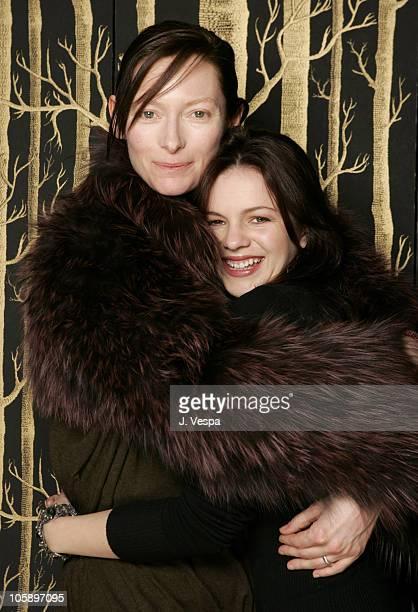 Tilda Swinton and Amber Tamblyn during 2006 Sundance Film Festival 'Stephanie Daly' Portraits at HP Portrait Studio in Park City Utah United States