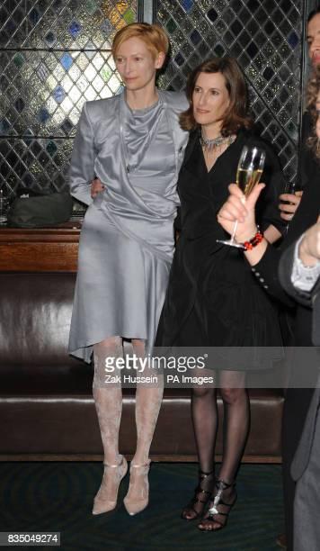 Tilda Swinton and Joanna Hogg attend the Evening Standard British Film Awards 2009 held at The Ivy restaurant London