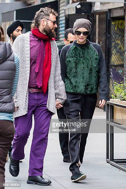 Tilda Swinton and Sandro Kopp are seen heading to il Buco Restaurant for lunch on December 1 2014 in New York City