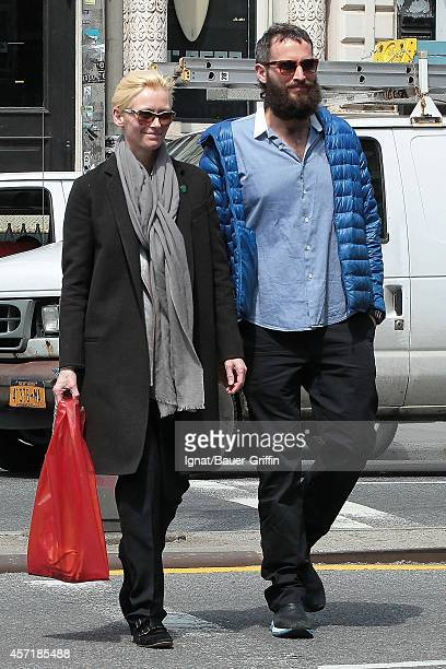 Tilda Swinton and Sandro Kopp are seen on April 26 2012 in New York City