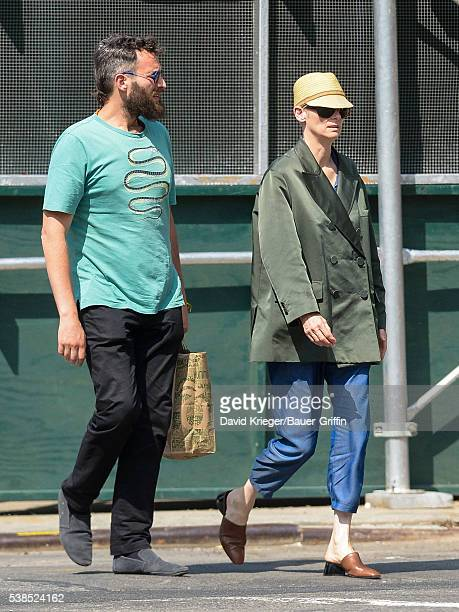 Tilda Swinton and Sandro Kopp are seen on June 06 2016 in New York City