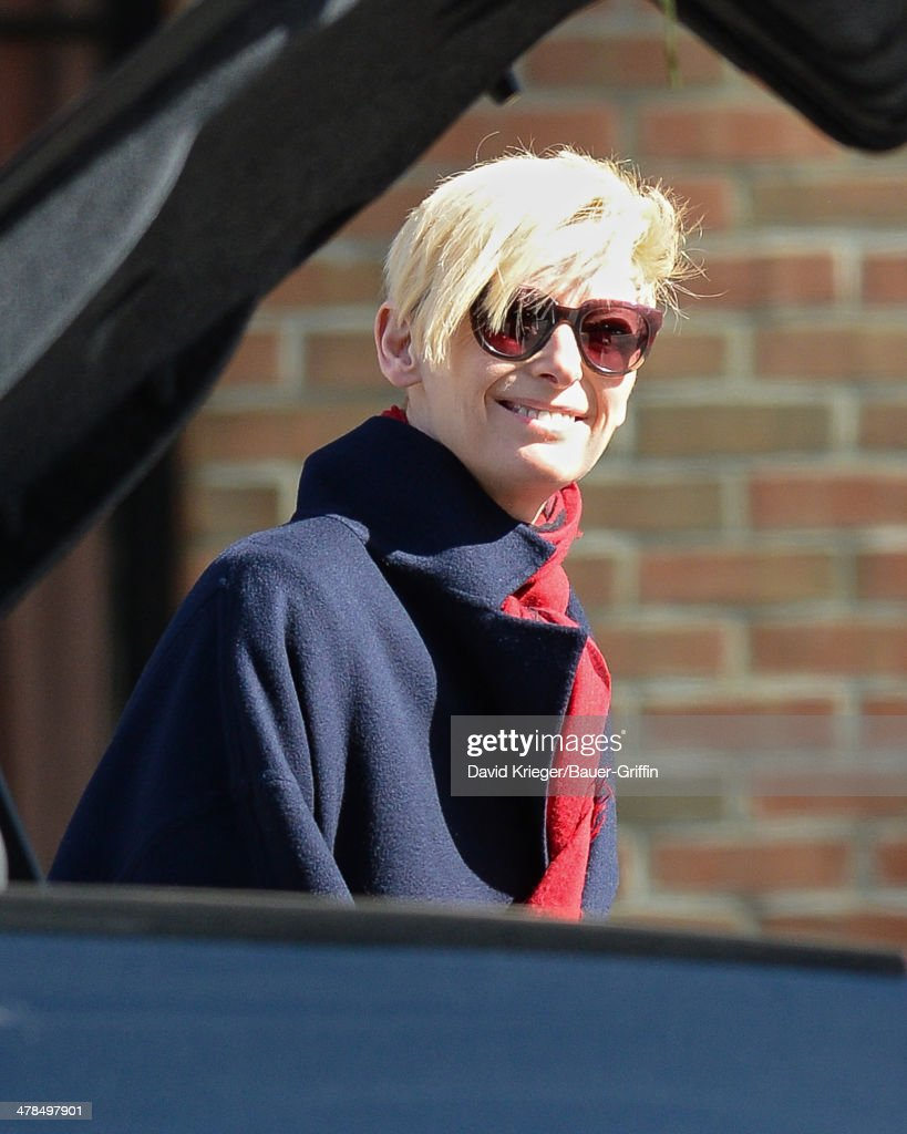 <a gi-track='captionPersonalityLinkClicked' href=/galleries/search?phrase=Tilda+Swinton&family=editorial&specificpeople=202991 ng-click='$event.stopPropagation()'>Tilda Swinton</a> and Sandro Kopp are seen on March 13, 2014 in New York City.
