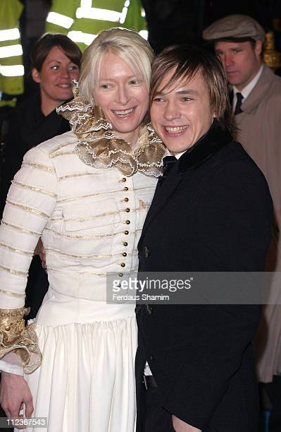Tilda Swinton and William Moseley during 'The Chronicles of Narnia The Lion The Witch and the Wardrobe' London Premiere Outside Arrivals at Royal...