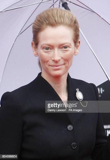 Tilda Swinton arrives at the world premiere of Stone of Destiny part of the Edinburgh International Film Festival at Cineworld in Edinburgh