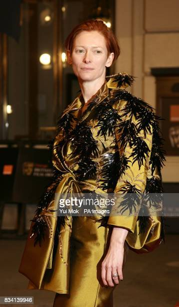 Tilda Swinton arrives for the 2008 Orange British Academy Film Awards at the Royal Opera House in Covent Garden central London