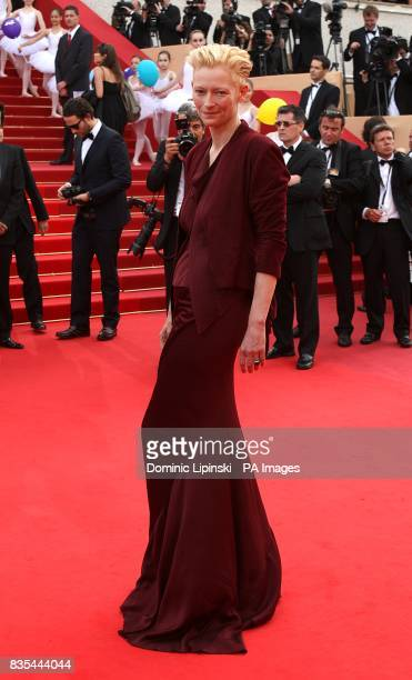 Tilda Swinton arriving at the Up premiere at the Palais de Festival during the 62nd Cannes Film Festival France