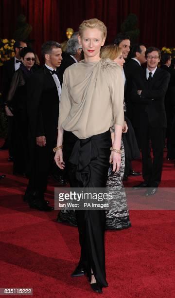 Tilda Swinton arriving for the 81st Academy Awards at the Kodak Theatre Los Angeles