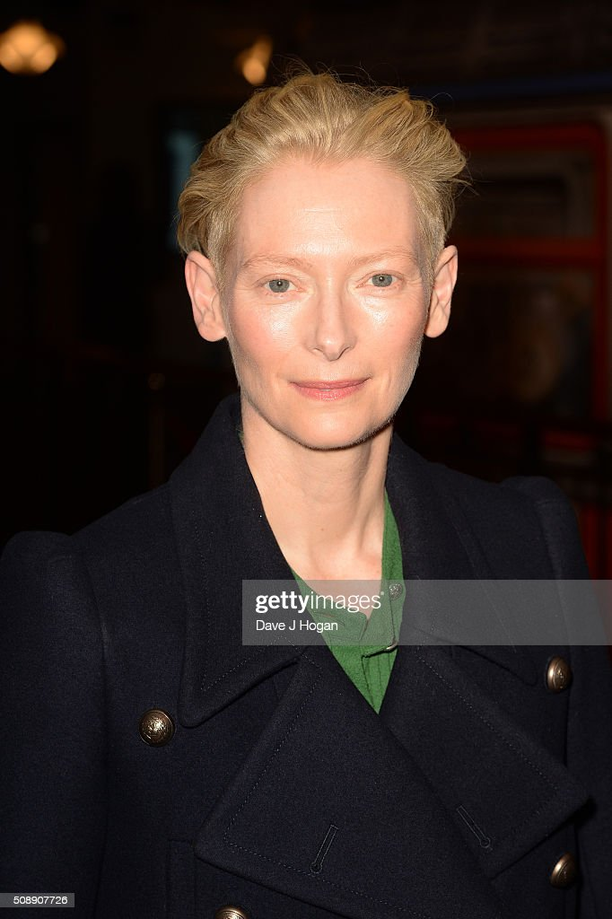 <a gi-track='captionPersonalityLinkClicked' href=/galleries/search?phrase=Tilda+Swinton&family=editorial&specificpeople=202991 ng-click='$event.stopPropagation()'>Tilda Swinton</a> attends 'A Bigger Splash' photocall at Picturehouse Central on February 7, 2016 in London, England.