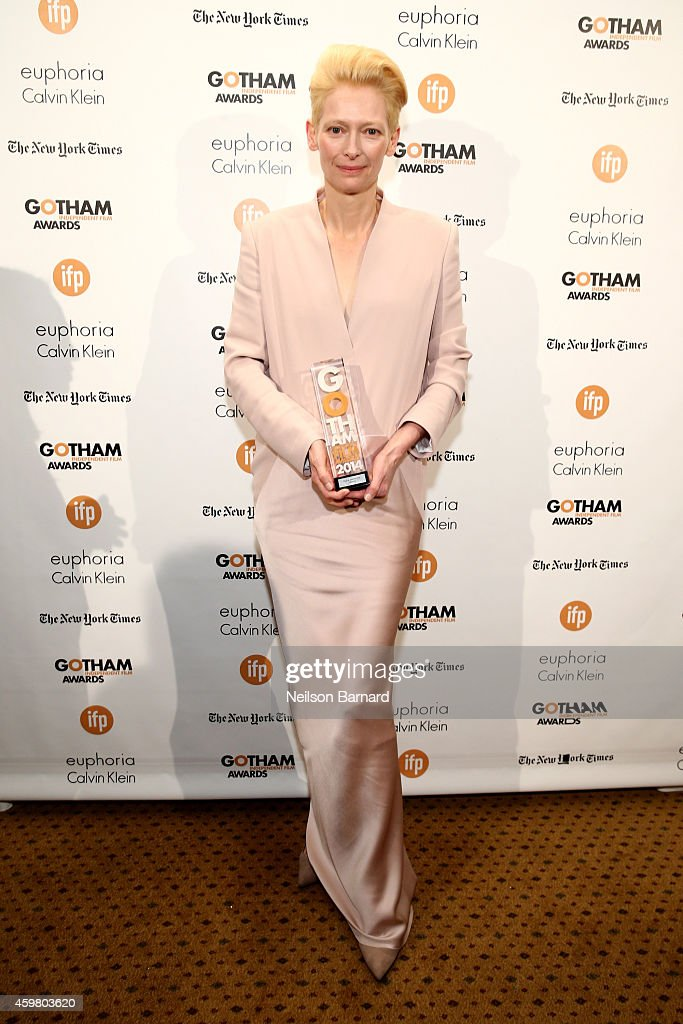 Tilda Swinton attends IFP's 24th Gotham Independent Film Awards at Cipriani Wall Street on December 1 2014 in New York City