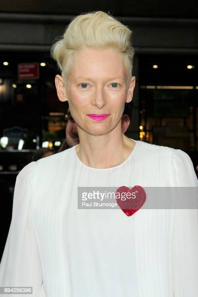 Tilda Swinton attends Netflix hosts the New York Premiere of 'Okja' at AMC Lincoln Square Theater on June 8 2017 in New York City