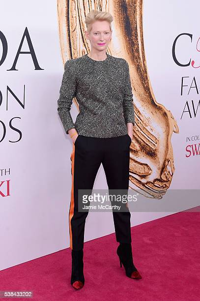 Tilda Swinton attends the 2016 CFDA Fashion Awards at the Hammerstein Ballroom on June 6 2016 in New York City