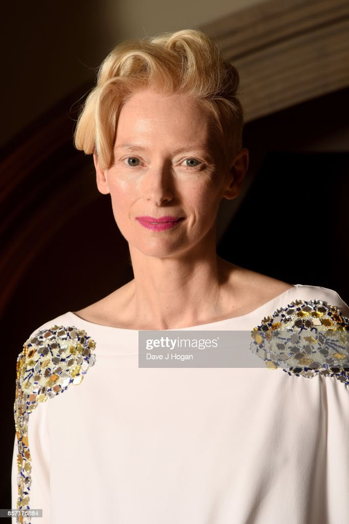 Tilda Swinton attends the BFI Luminous Fundraising Gala at The Guildhall on October 3, 2017 in London, England.