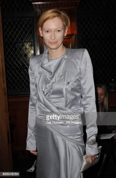 Tilda Swinton attends the Evening Standard British Film Awards 2009 held at The Ivy restaurant London