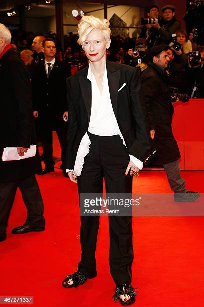 Tilda Swinton attends 'The Grand Budapest Hotel' Premiere and opening ceremony during the 64th Berlinale International Film Festival at Berlinale...