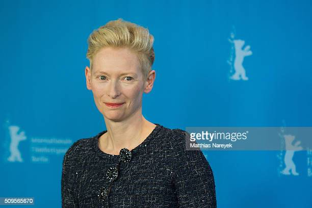 Tilda Swinton attends the 'Hail Caesar' photo call during the 66th Berlinale International Film Festival Berlin at Grand Hyatt Hotel on February 11...
