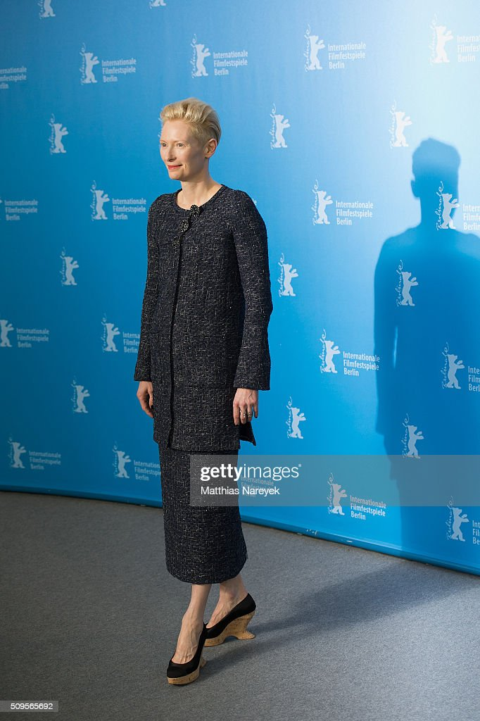 <a gi-track='captionPersonalityLinkClicked' href=/galleries/search?phrase=Tilda+Swinton&family=editorial&specificpeople=202991 ng-click='$event.stopPropagation()'>Tilda Swinton</a> attends the 'Hail, Caesar!' photo call during the 66th Berlinale International Film Festival Berlin at Grand Hyatt Hotel on February 11, 2016 in Berlin, Germany.