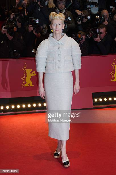 Tilda Swinton attends the 'Hail Caesar' premiere during the 66th Berlinale International Film Festival Berlin at Berlinale Palace on February 11 2016...
