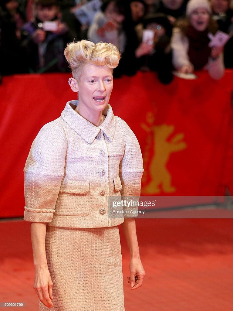 Tilda Swinton attends the 'Hail, Caesar!' premiere during the 66th Berlinale International Film Festival Berlin at Berlinale Palace in Berlin, Germany on February 11, 2016.