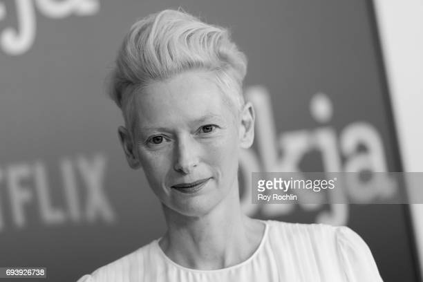 Tilda Swinton attends the New York premiere of 'Okja' at AMC Lincoln Square Theater on June 8 2017 in New York City