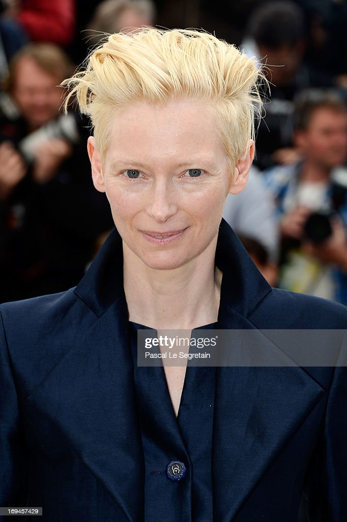 Tilda Swinton attends the 'Only Lovers Left Alive' Photocall during The 66th Annual Cannes Film Festival on May 25 2013 in Cannes France