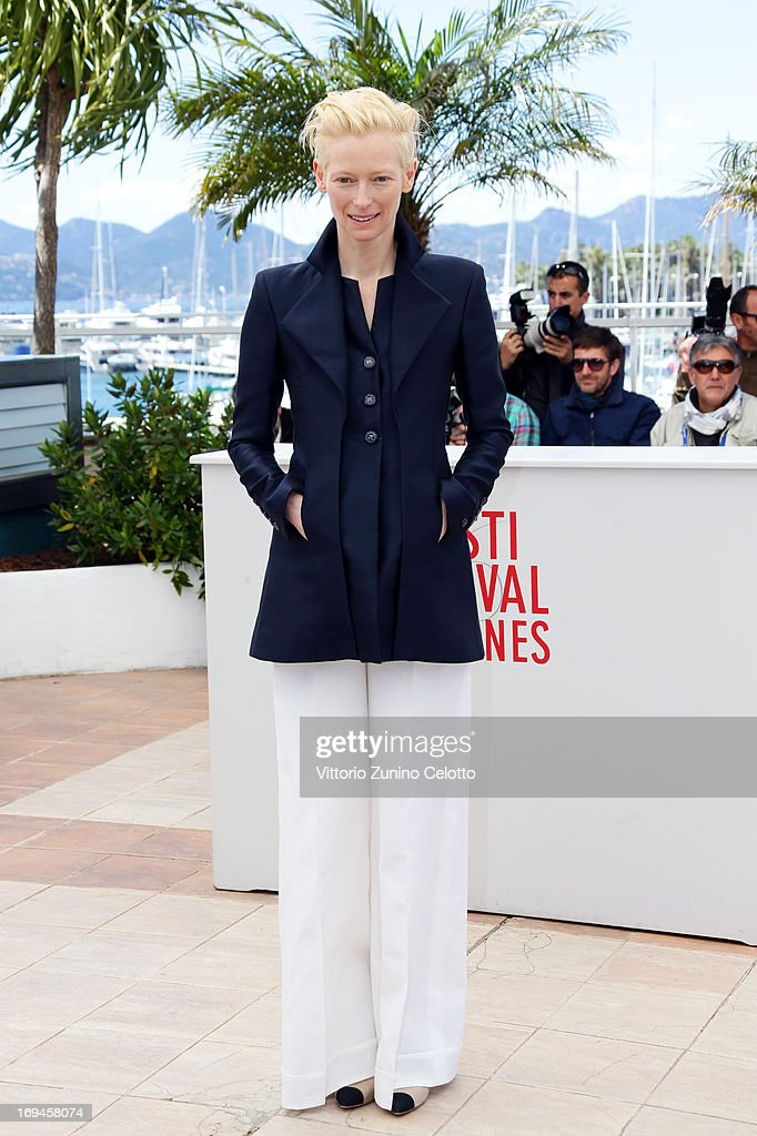 <a gi-track='captionPersonalityLinkClicked' href=/galleries/search?phrase=Tilda+Swinton&family=editorial&specificpeople=202991 ng-click='$event.stopPropagation()'>Tilda Swinton</a> attends the 'Only Lovers Left Alive' photocall during The 66th Annual Cannes Film Festival at Palais des Festival on May 25, 2013 in Cannes, France.