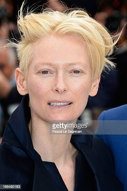 Tilda Swinton attends the 'Only Lovers Left Alive' photocall during The 66th Annual Cannes Film Festival at Palais des Festival on May 25 2013 in...