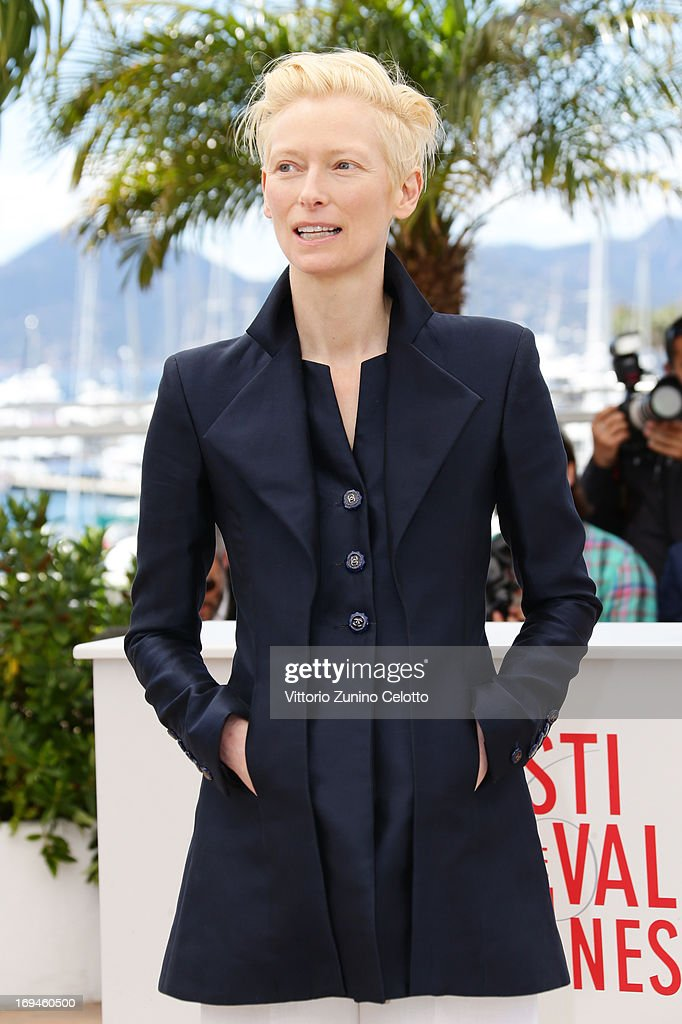 Tilda Swinton attends the 'Only Lovers Left Alive' photocall during The 66th Annual Cannes Film Festival at Palais des Festival on May 25, 2013 in Cannes, France.