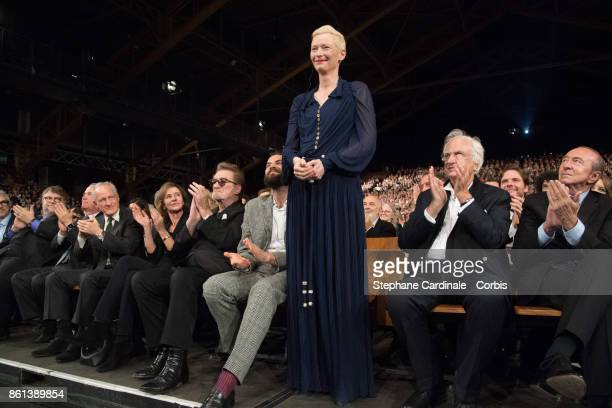 Tilda Swinton attends the Opening Ceremony of the 9th Film Festival Lumiere on October 14 2017 in Lyon France