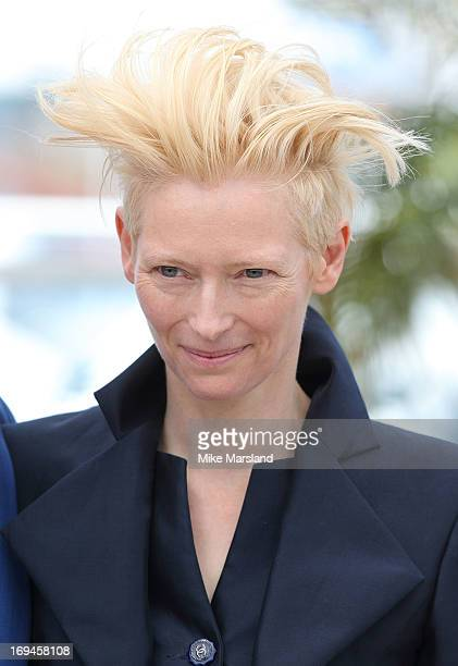 Tilda Swinton attends the photocall for 'Only Lovers Left Alive' at The 66th Annual Cannes Film Festival on May 25 2013 in Cannes France