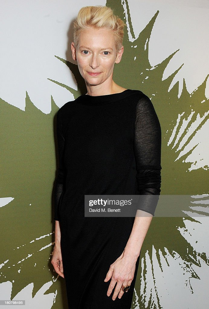 Tilda Swinton attends the Pringle of Scotland flagship store launch on September 16, 2013 in London, England.