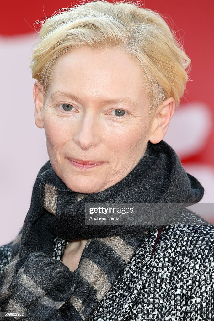<a gi-track='captionPersonalityLinkClicked' href=/galleries/search?phrase=Tilda+Swinton&family=editorial&specificpeople=202991 ng-click='$event.stopPropagation()'>Tilda Swinton</a> attends the 'The Seasons in Quincy: Four Portraits of John Berger' screening during the 66th Berlinale International Film Festival Berlin at Haus Der Berliner Festspiele on February 13, 2016 in Berlin, Germany.