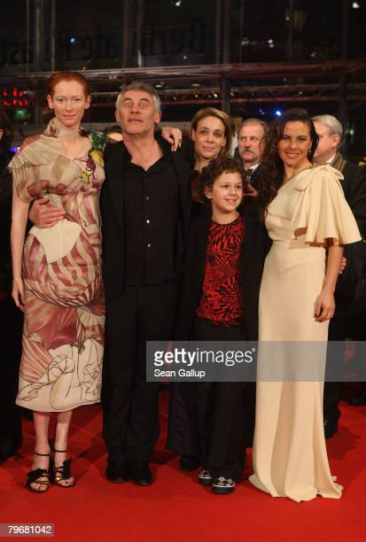 Tilda Swinton director Erick Zonca Aidan Gould scriptwriter Auld Py and Kate del Castillo attend the 'Julia' premiere during day three of the 58th...