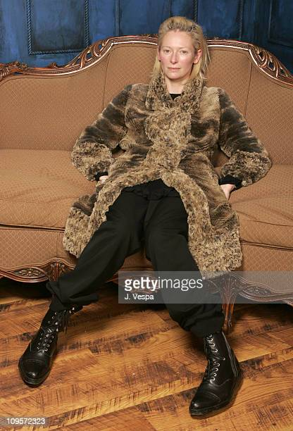 Tilda Swinton during 2005 Sundance Film Festival 'Thumbsucker' Portraits at HP Portrait Studio in Park City Utah United States