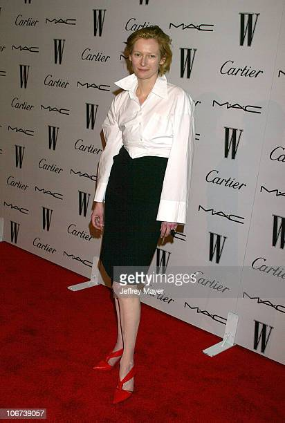 Tilda Swinton during W Magazine Celebrates Their Hollywood AList Issue With Their First Golden Globes Event Presented With Cartier And MAC Cosmetics...